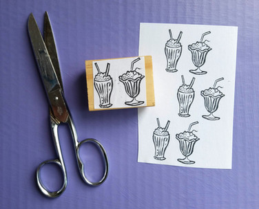 Ice Cream Soda Stamp – Available on Etsy