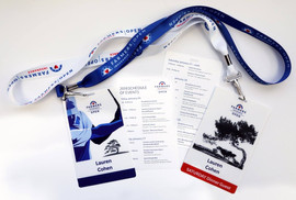 Event credentials and schedule