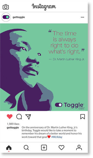 Toggle MLK jr. day