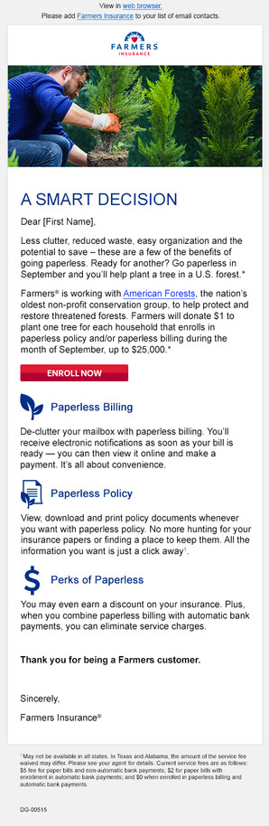 Go Paperless Email