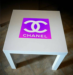 PINK CHANEL INSPIRED END TABLE
