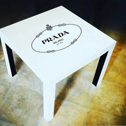 WHITE PRADA INSPIRED END TABLE
