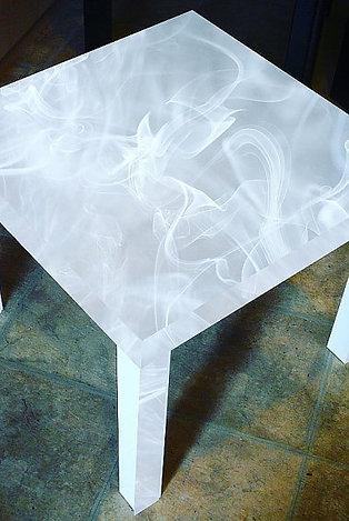 SMOKE EFFECT END TABLE