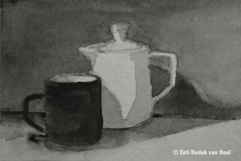 Koffiekan met mok nr 2,