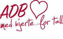 ADB senteret AS med hjerte logo PMS 186