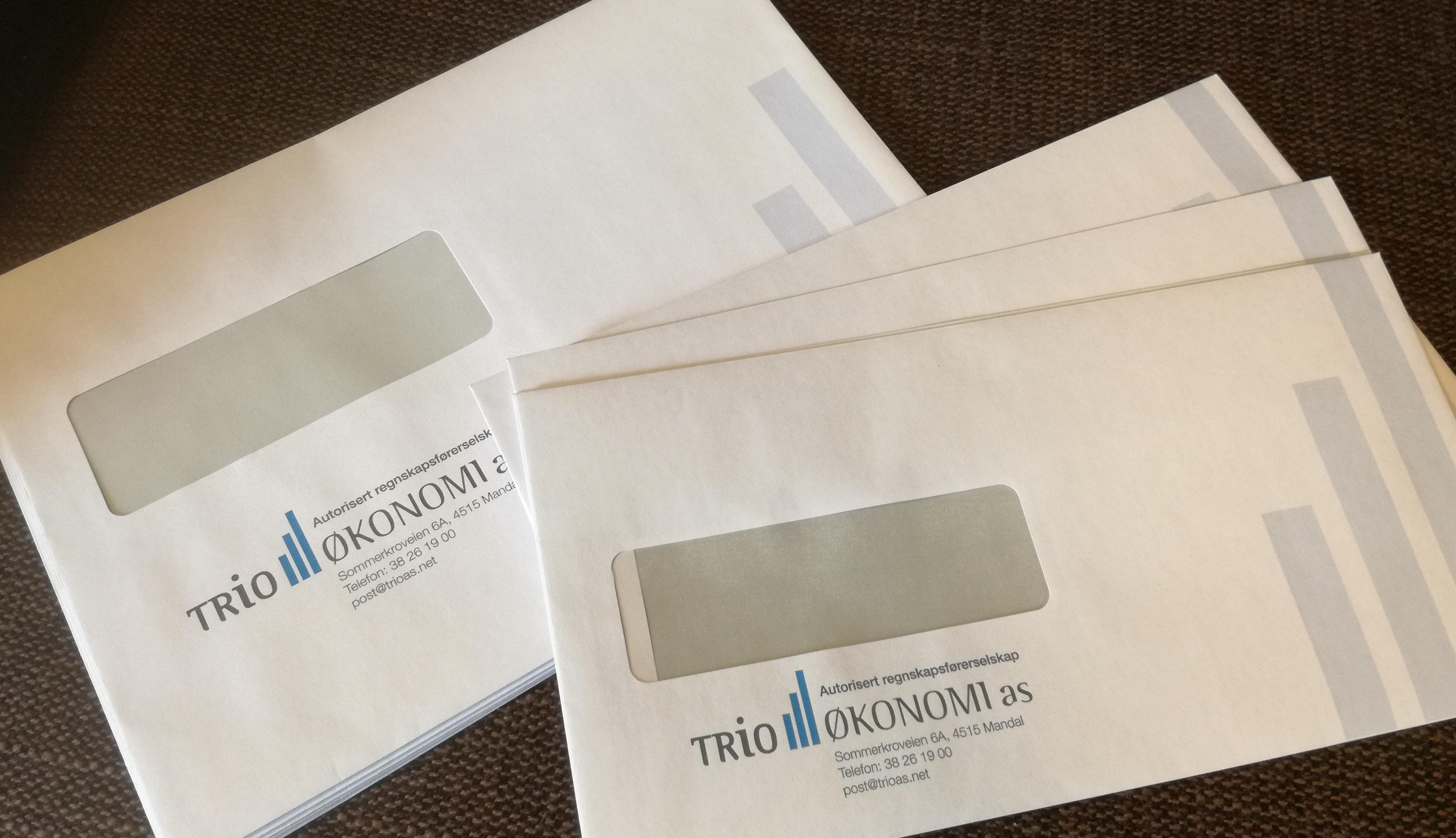 Trio Økonomi, konvolutter C5 og E6_5