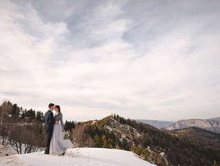 Destination elopement in the Pyrenees mountains, France