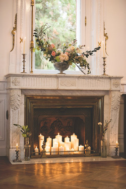 Wedding ceremony in French chateau