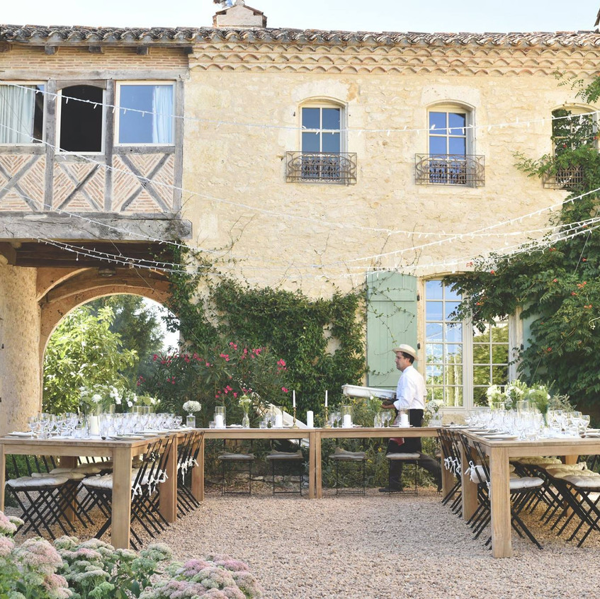 Outdoor dinner in South of France