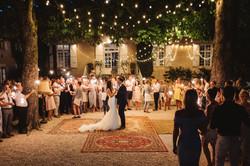 French chateau wedding first dance