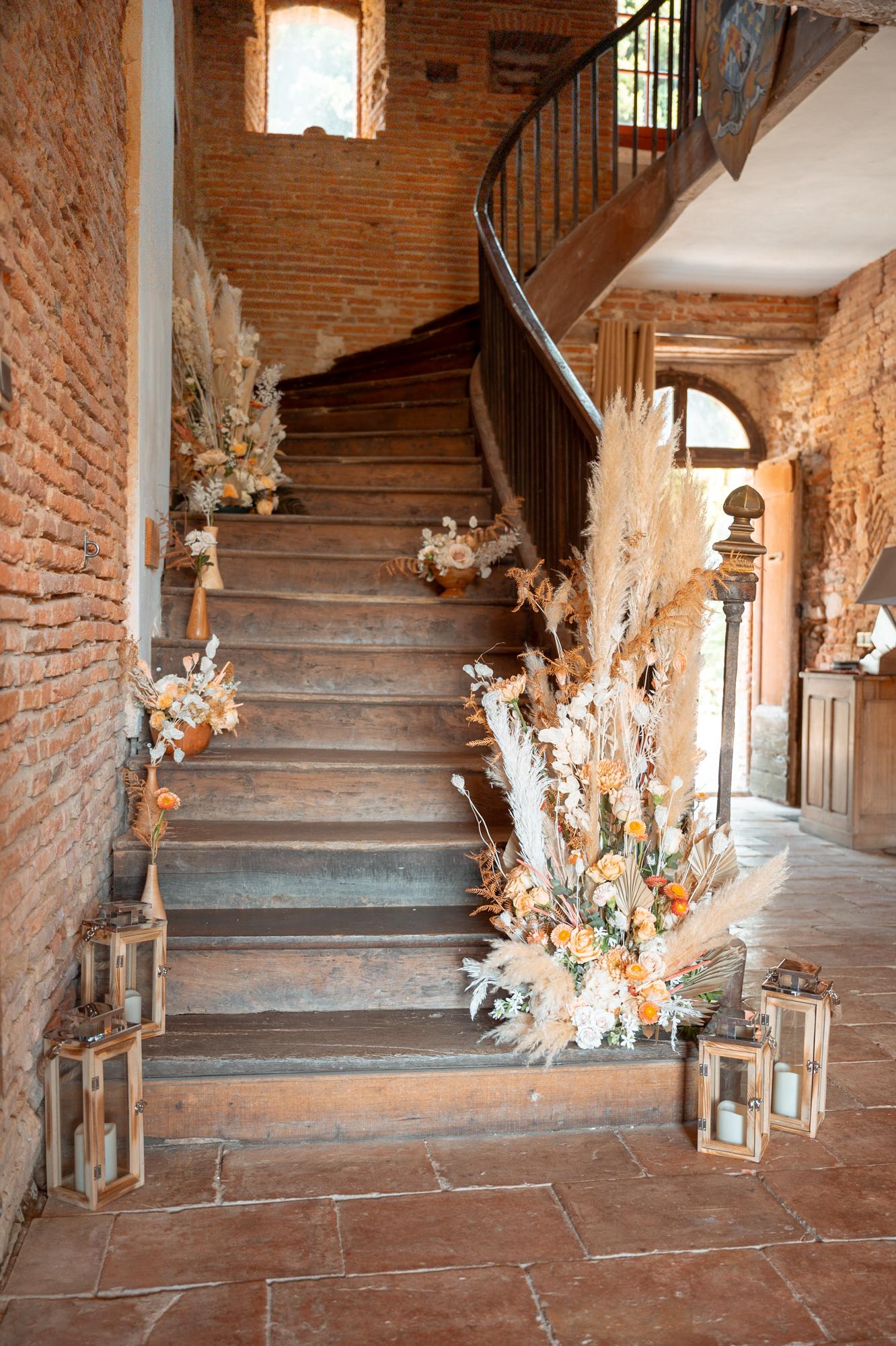 Destination wedding in French rustic chateau