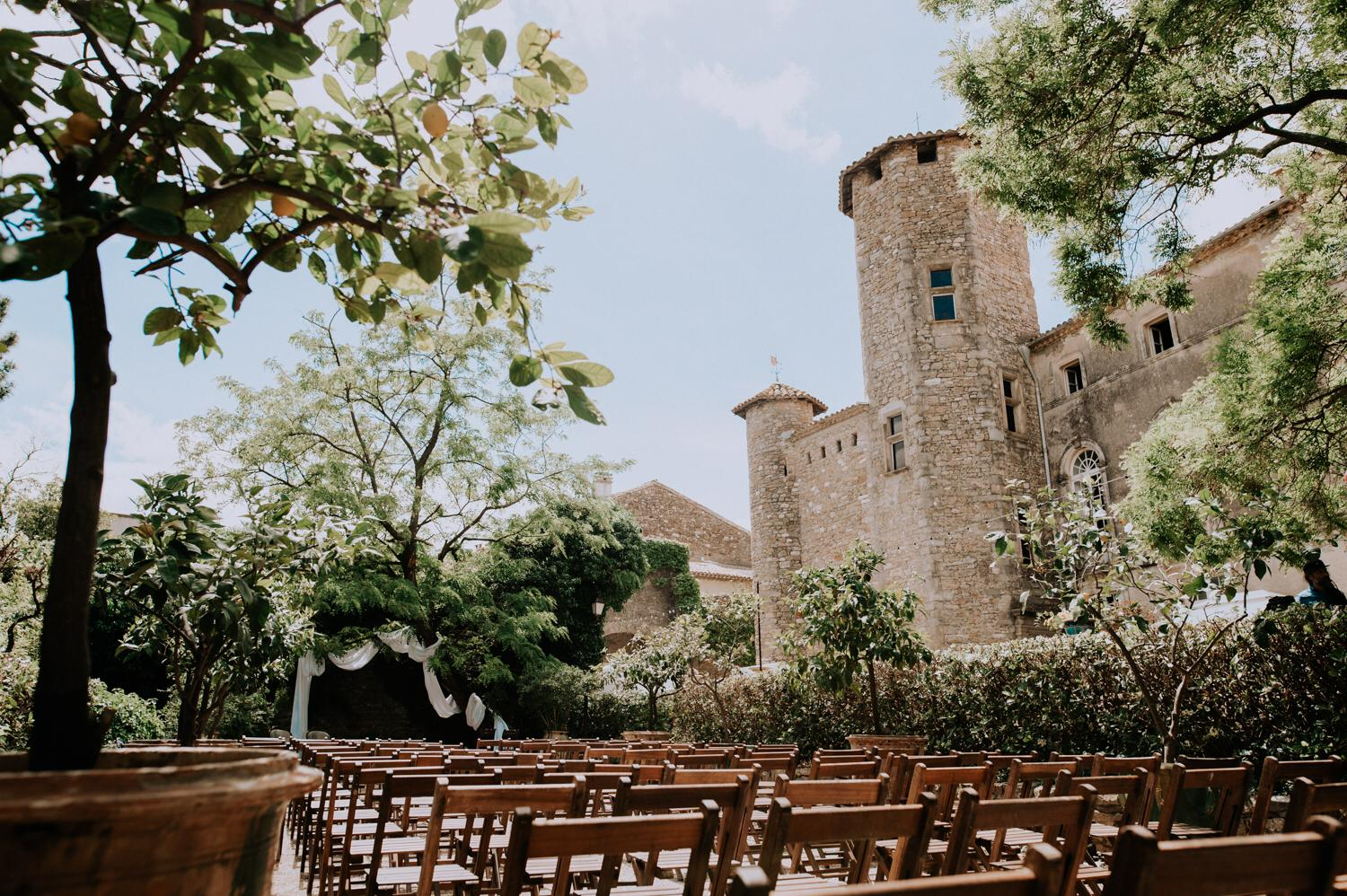 French chateau wedding planner