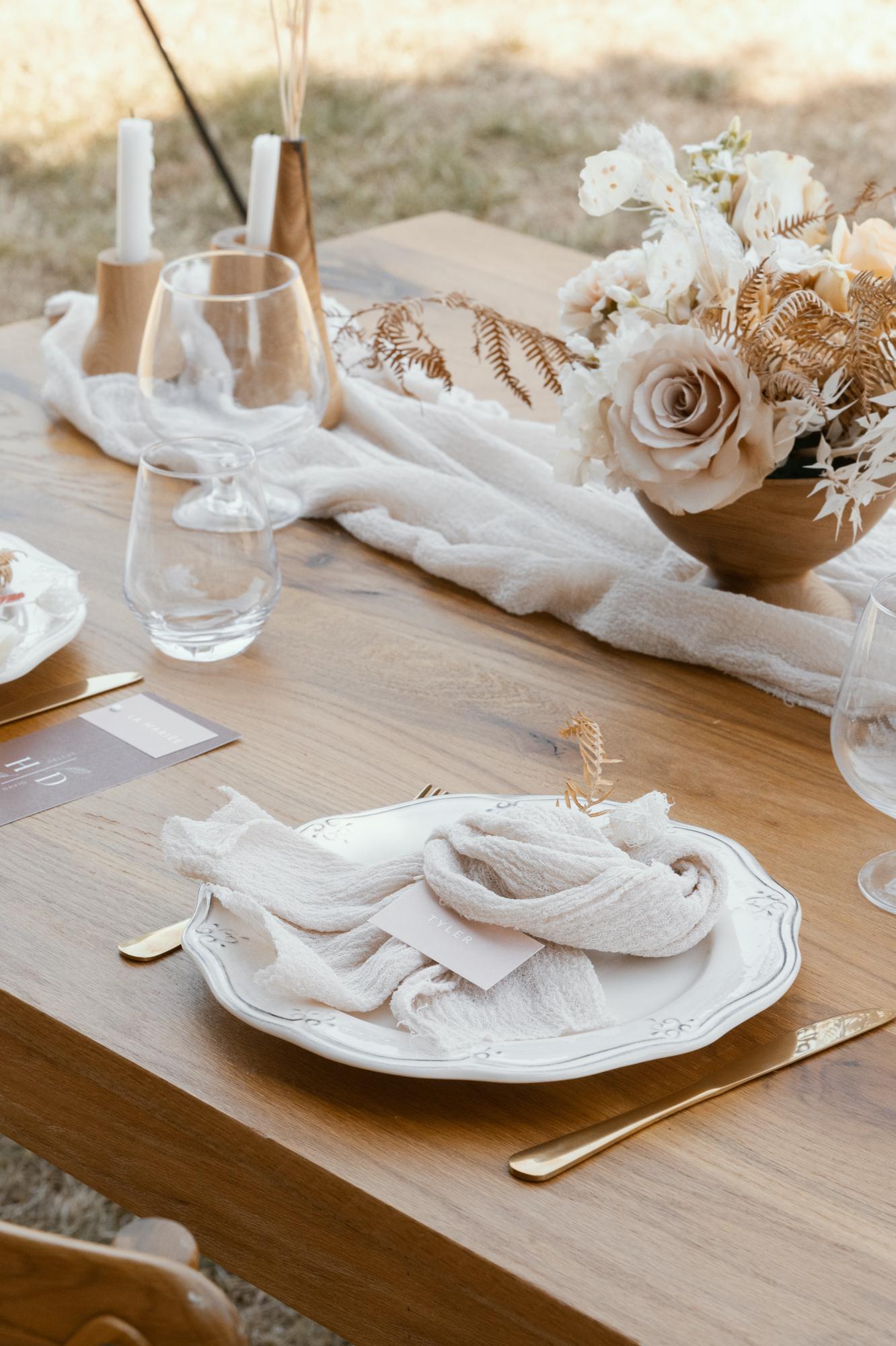 Whimsical organic wedding