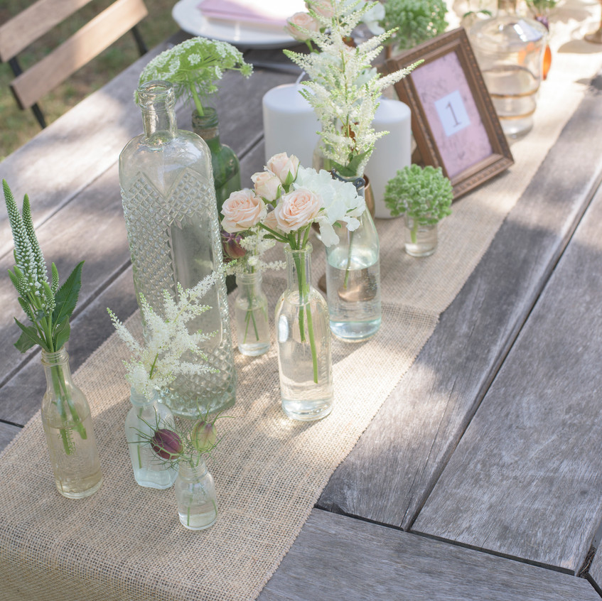 Vintage wedding styling - table