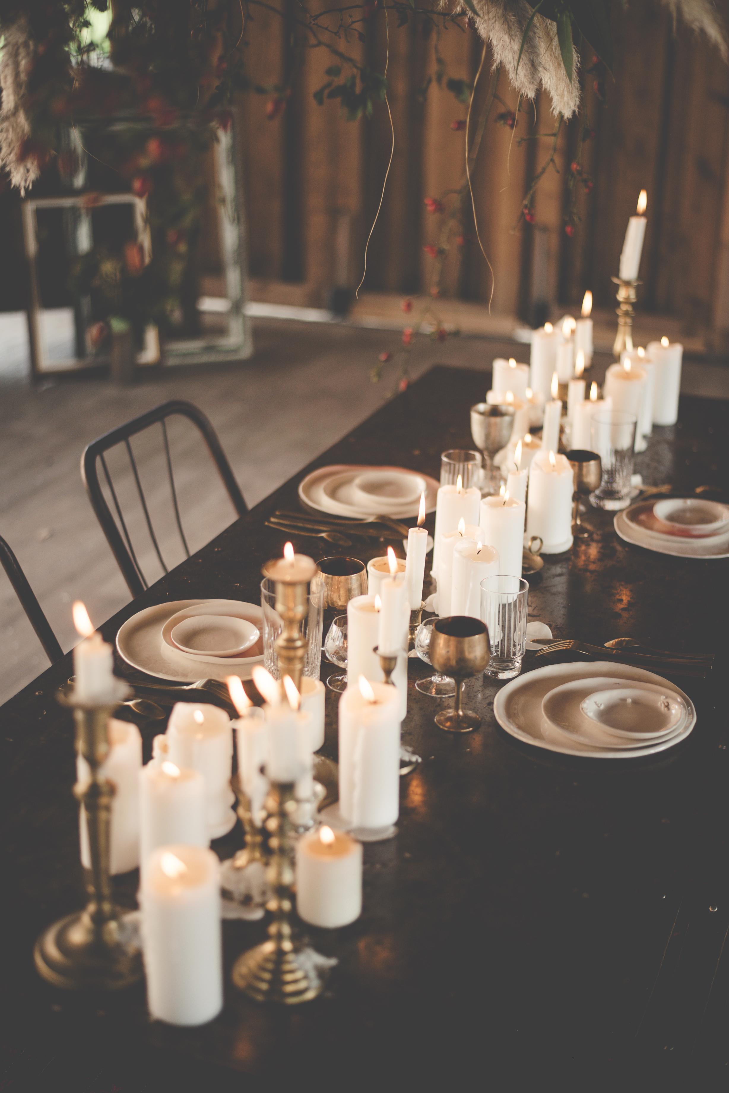 Metallic wedding styling