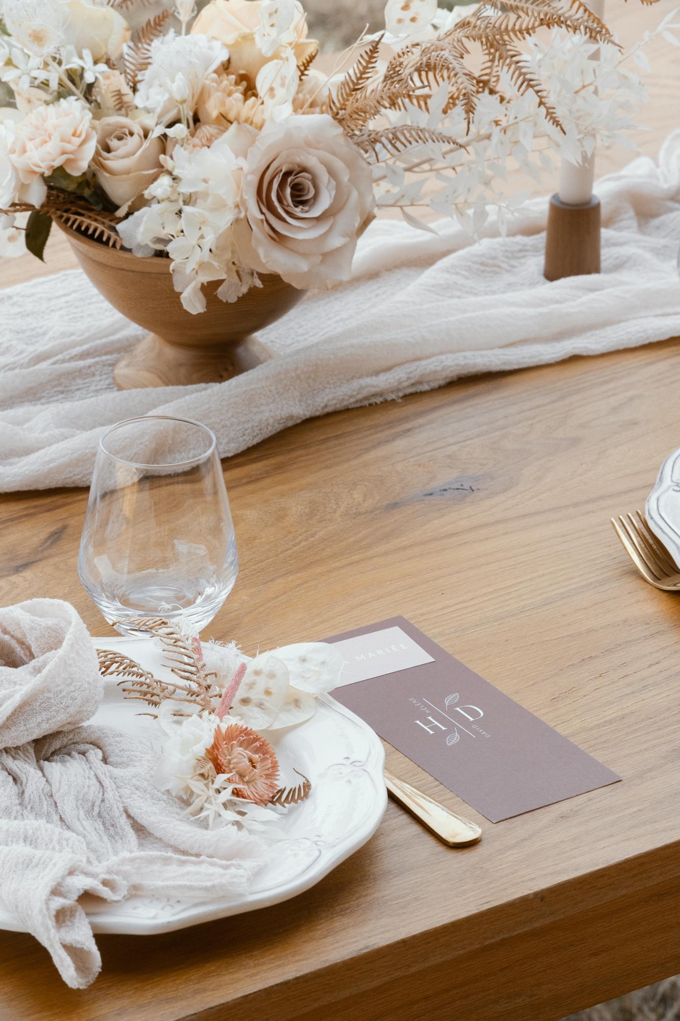 Whimsical soft wedding styling