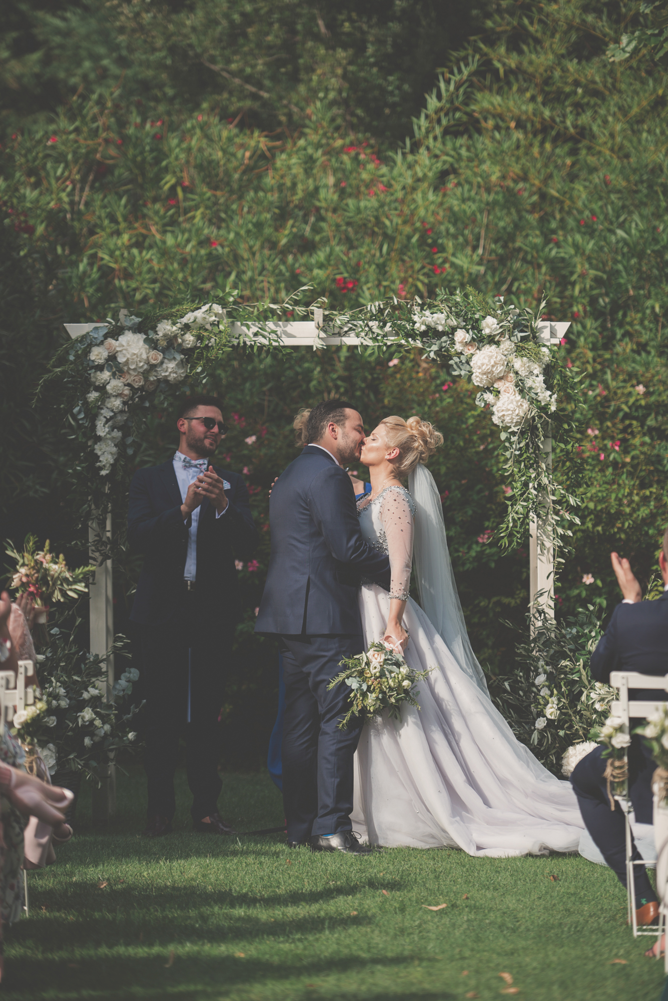Outdoor wedding ceremony in Provence