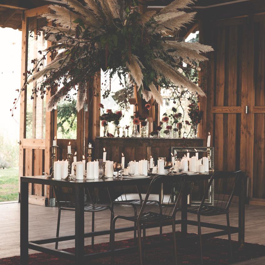 2019 wedding trends - dinner set-up