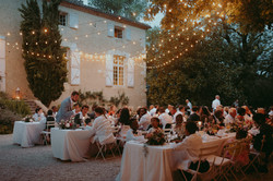 Wedding dinner in South of France