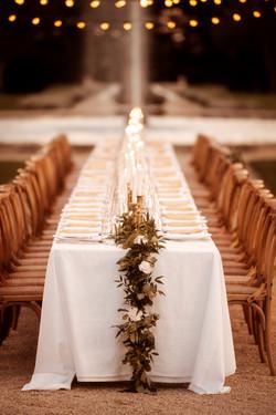 Wedding dinner styling