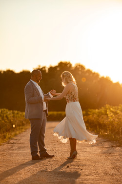 Wedding sunset in Bordeaux
