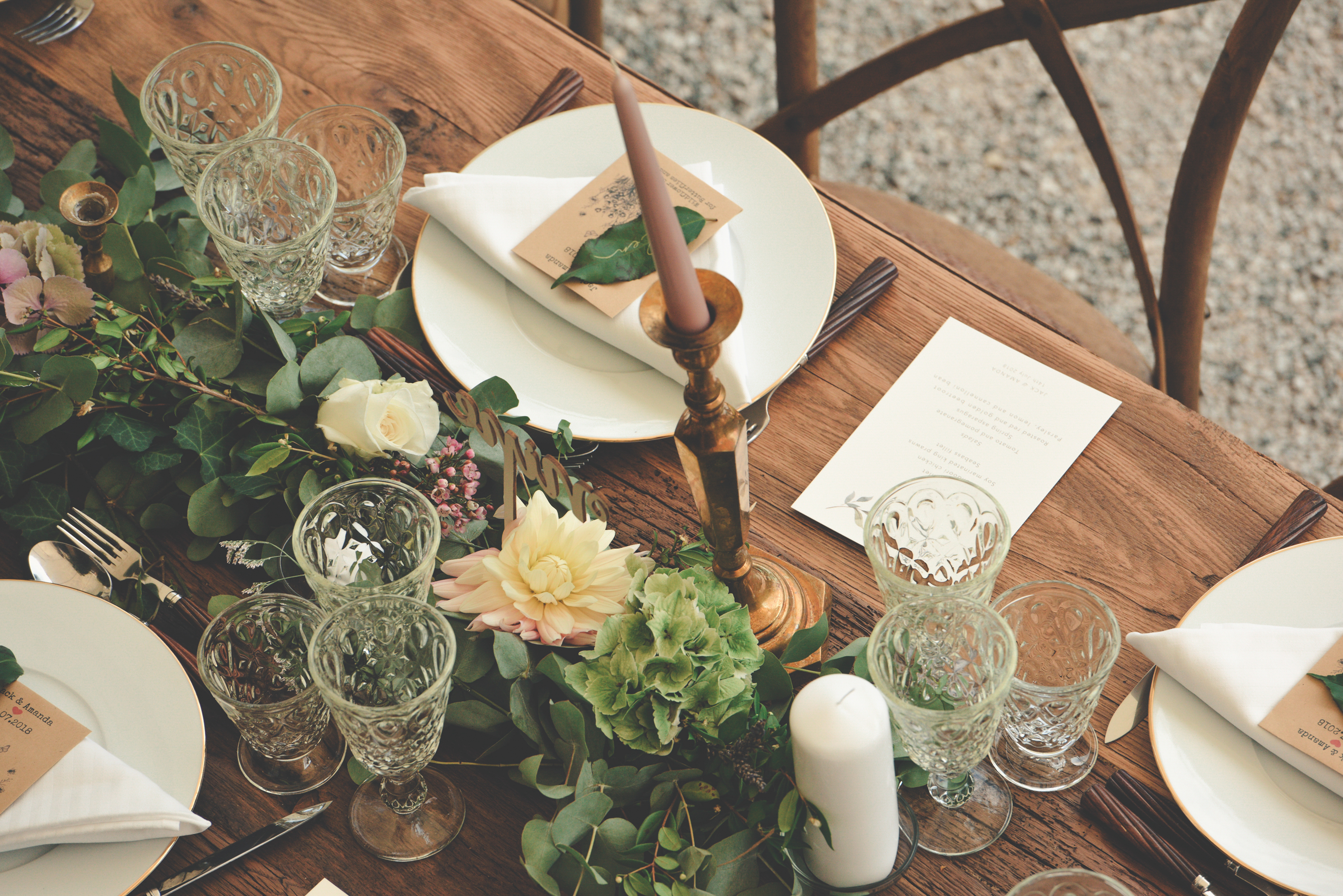 Wedding in France - table decoration