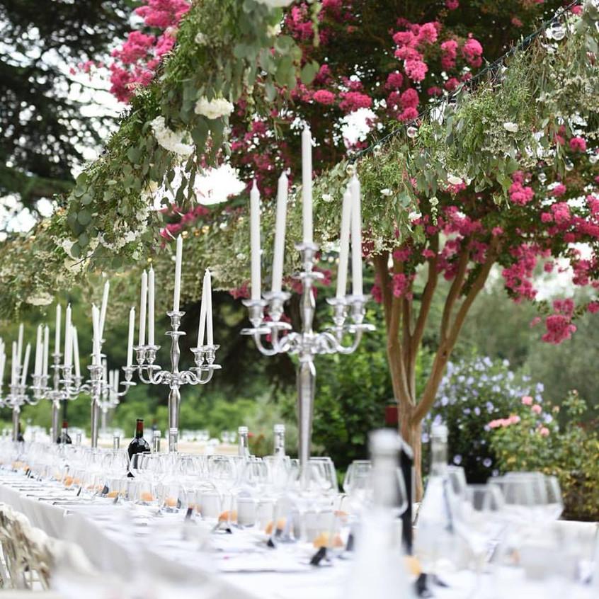Outdoor wedding dinner France