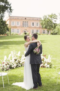 French wedding chateau - outdoor wedding ceremony