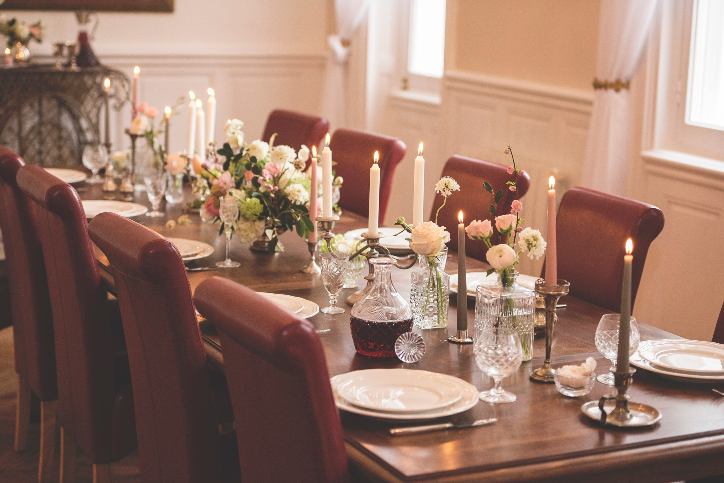Wedding dinner in French chateau