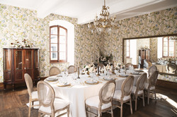 French chateau wedding dinner