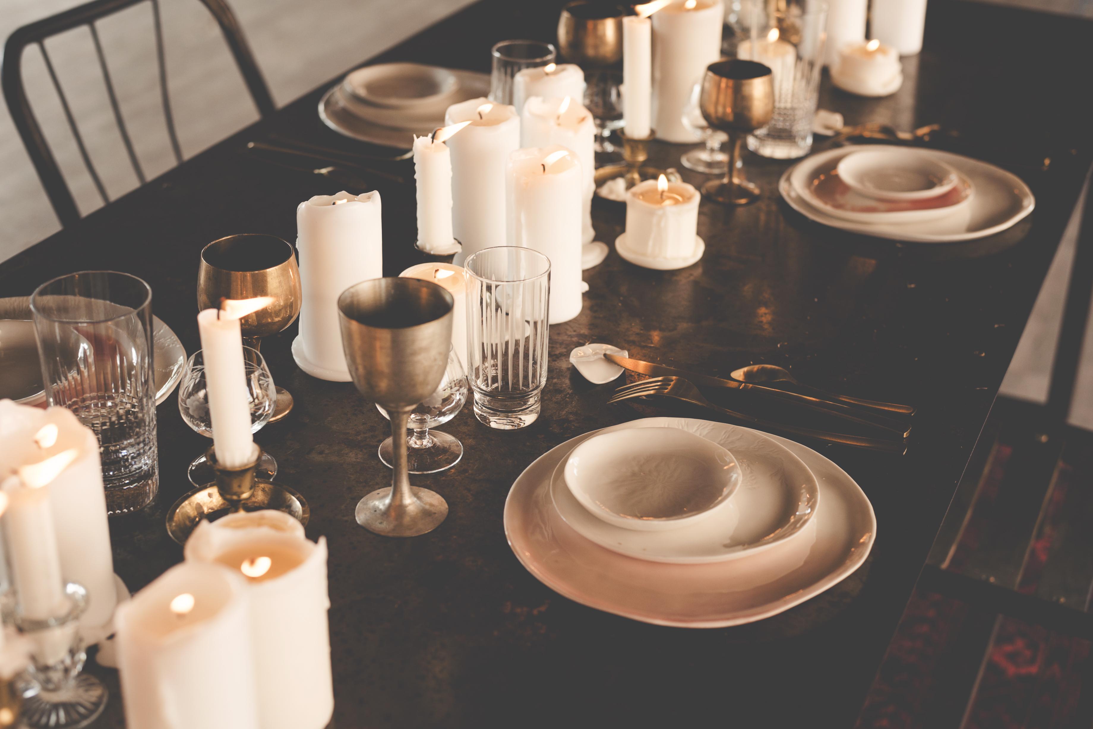 Wedding candlelit dinner
