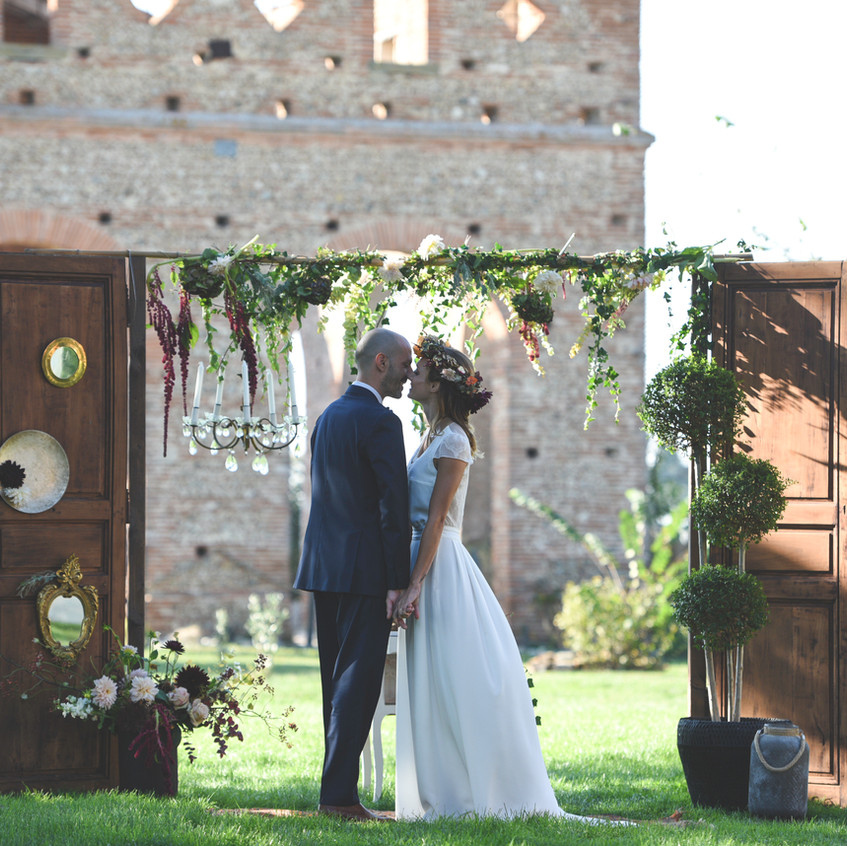 Outdoor ceremony, South of France