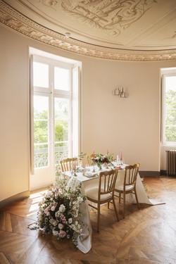 Fine art French wedding in French chateau