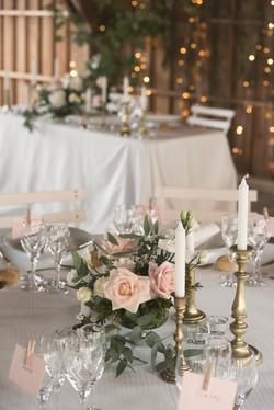 French fine art wedding dinner
