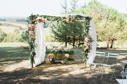 Outdoor wedding in South of France