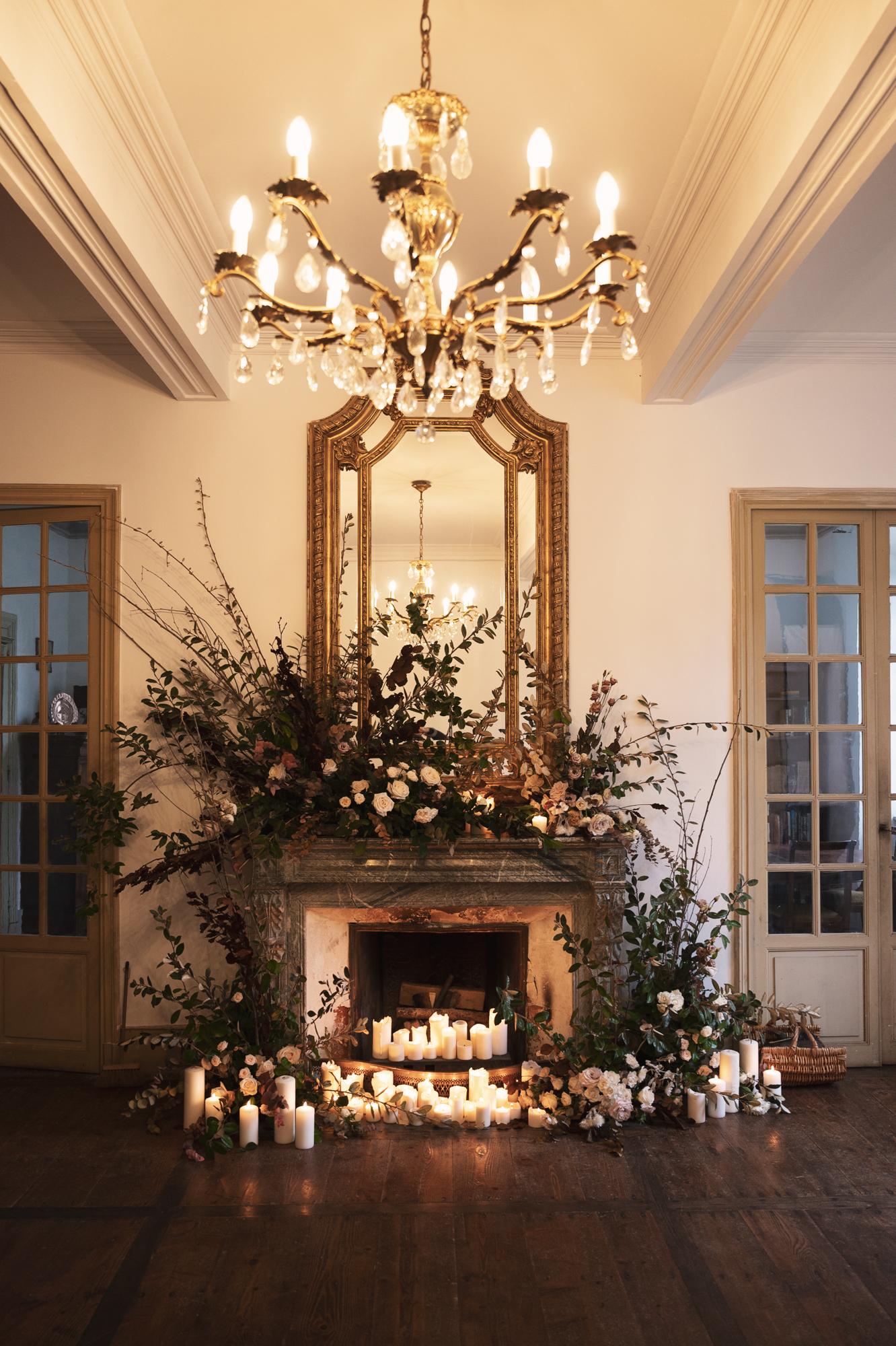 French chateau wedding ceremony