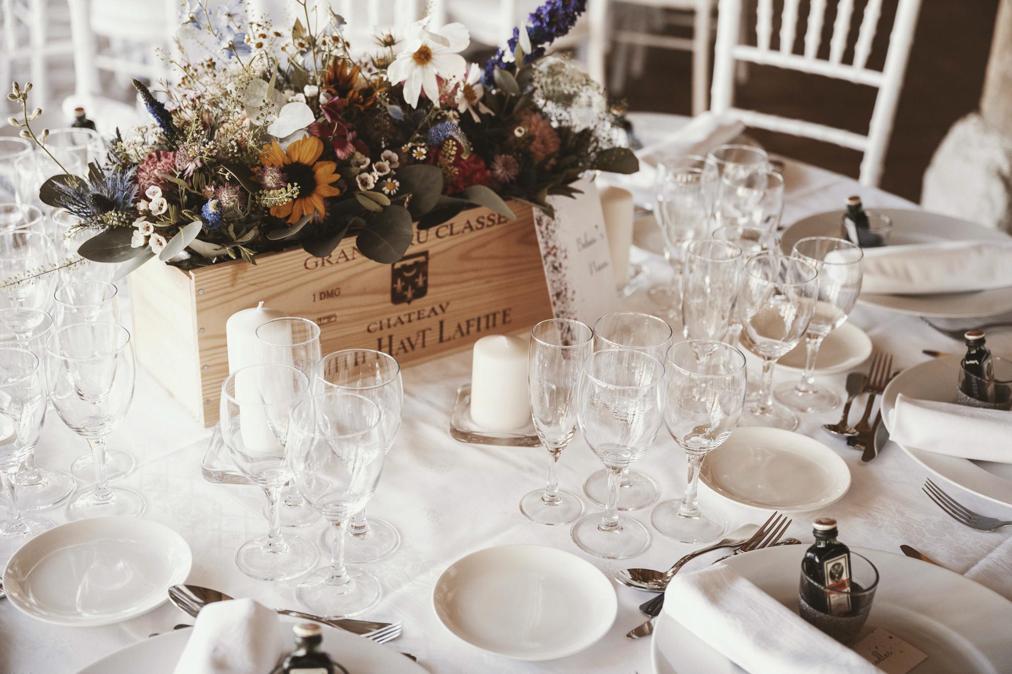 French vineyard wedding styling