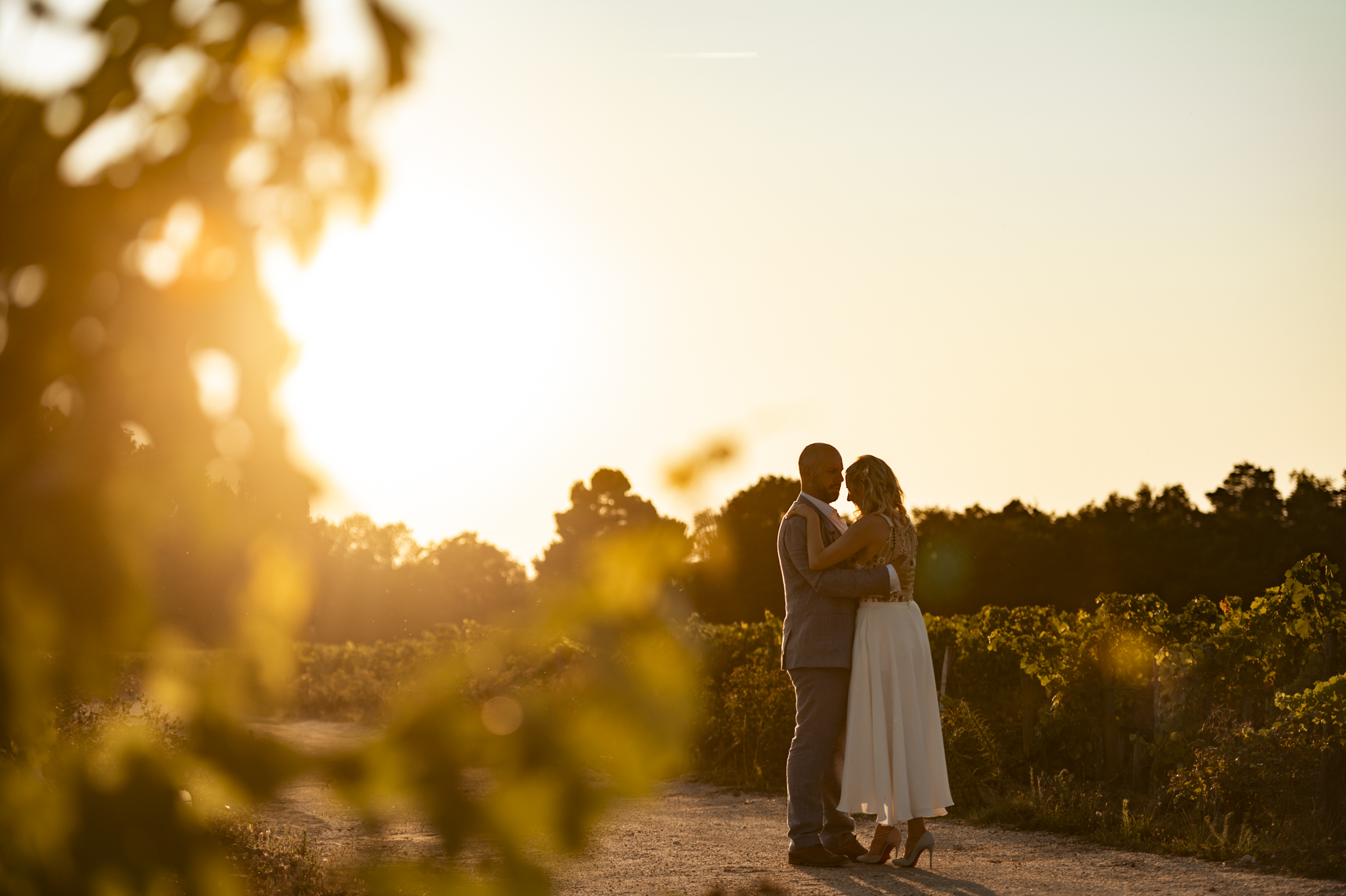 Wedding sunset in France