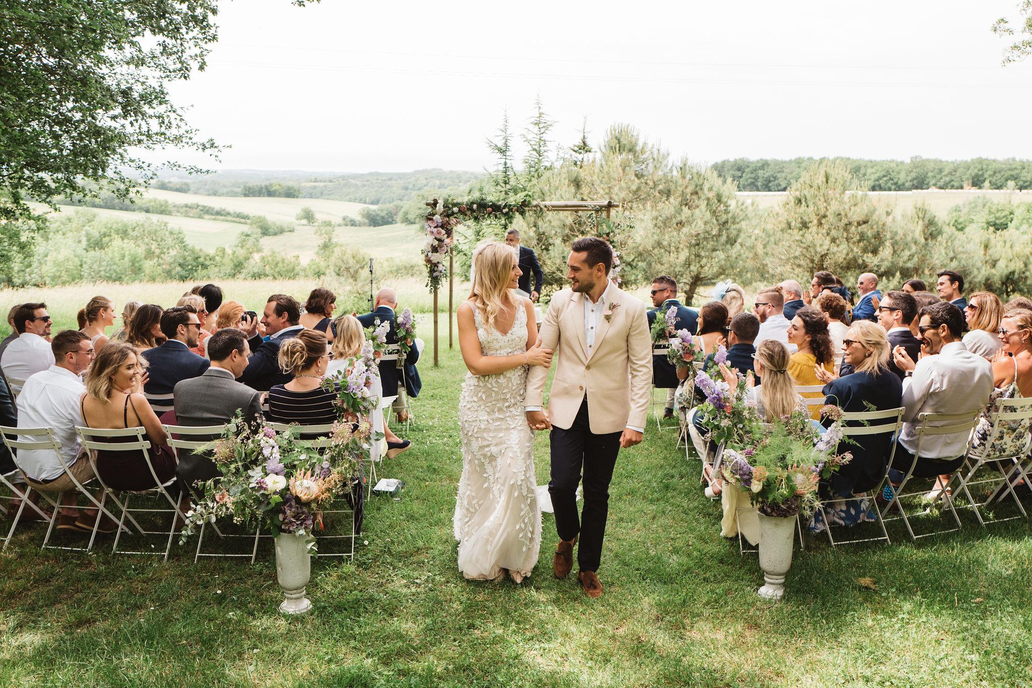 Wedding in French chateau