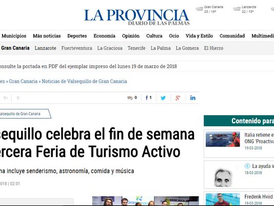 Valsequillo celebra el fin de semana la tercera Feria de Turismo Activo