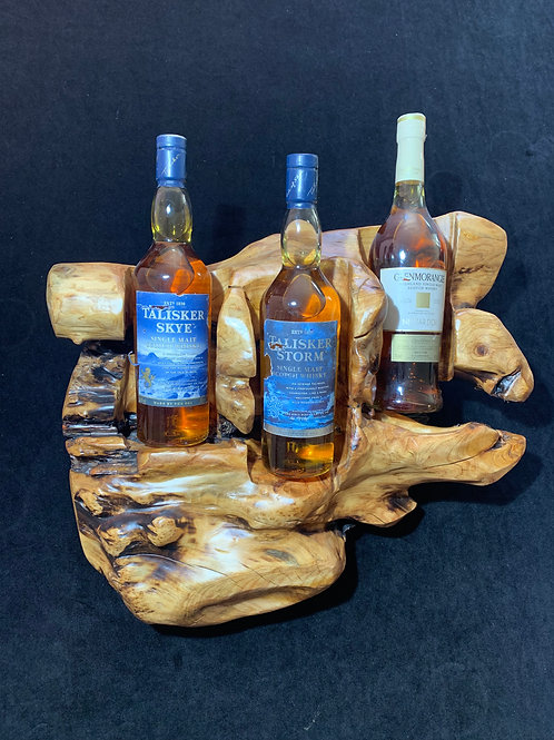 3 Bottle wine holders special character