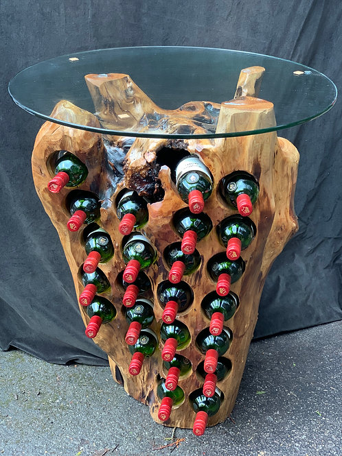24 Bottle wine holder with glass top