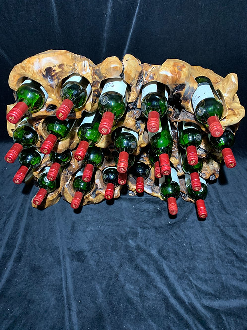 Rare 24 Bottle wine holder