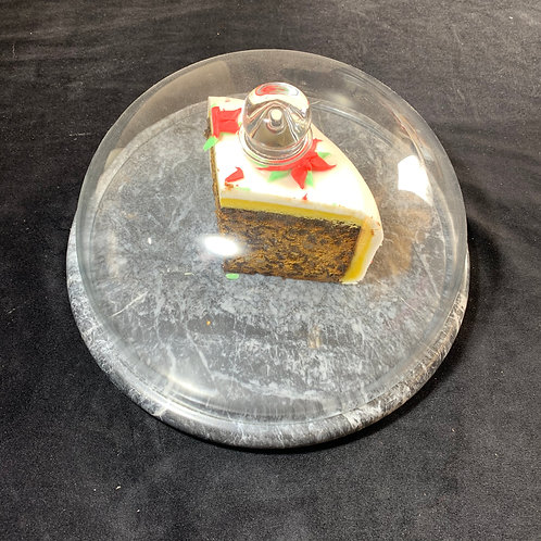 30cm Round cheese board and glass dome
