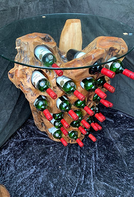 12 BottleWine Holder with Glass Top