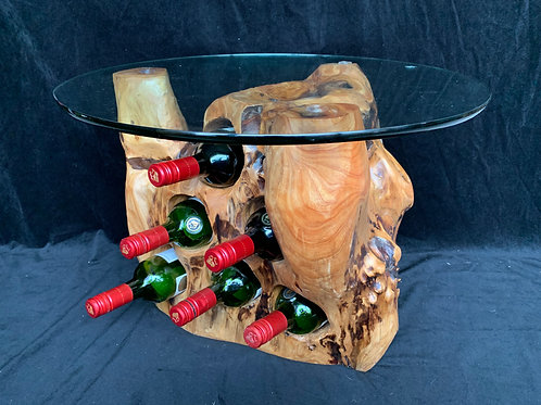 6 Bottle holder with a glass top