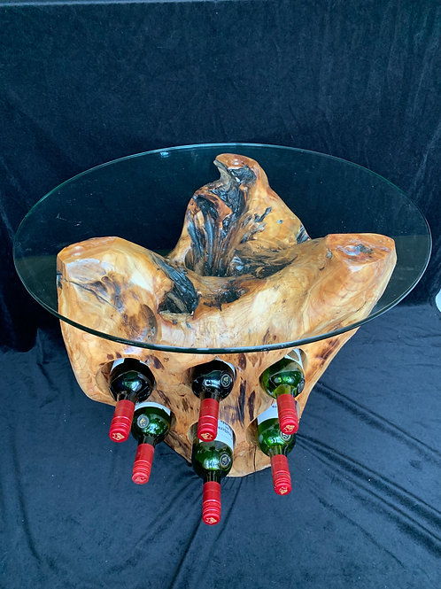 6 Bottle Holder Glass Top