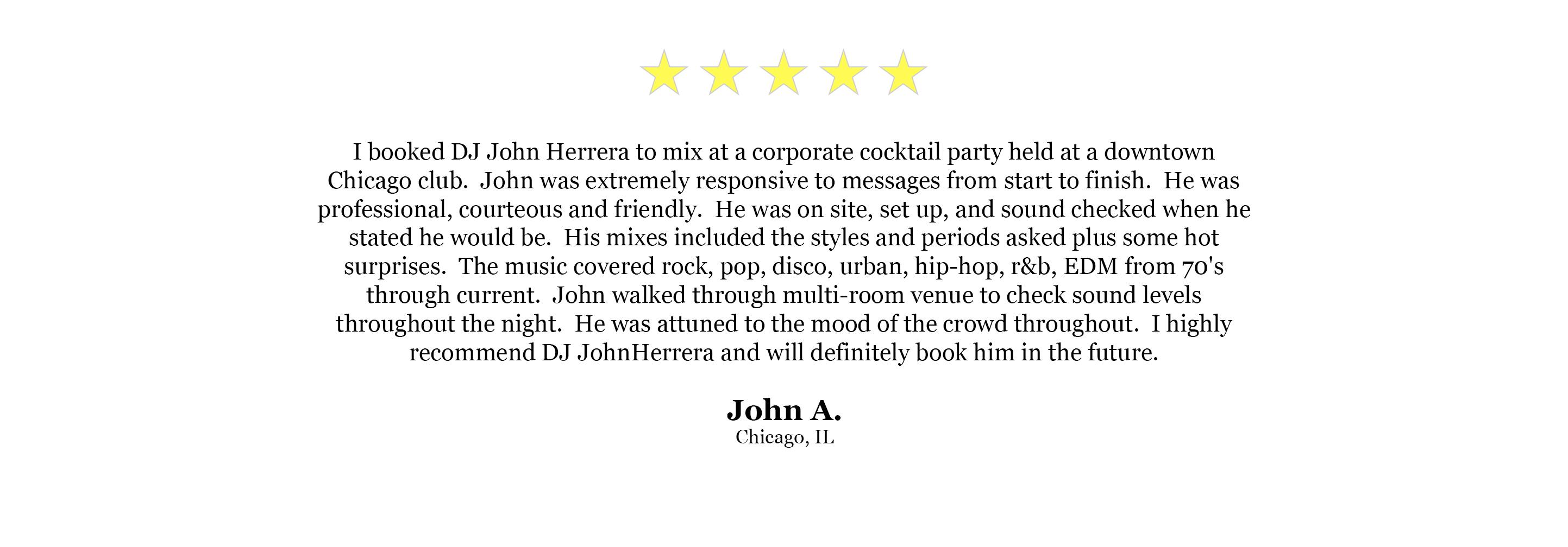 DJ Website Quote - John A