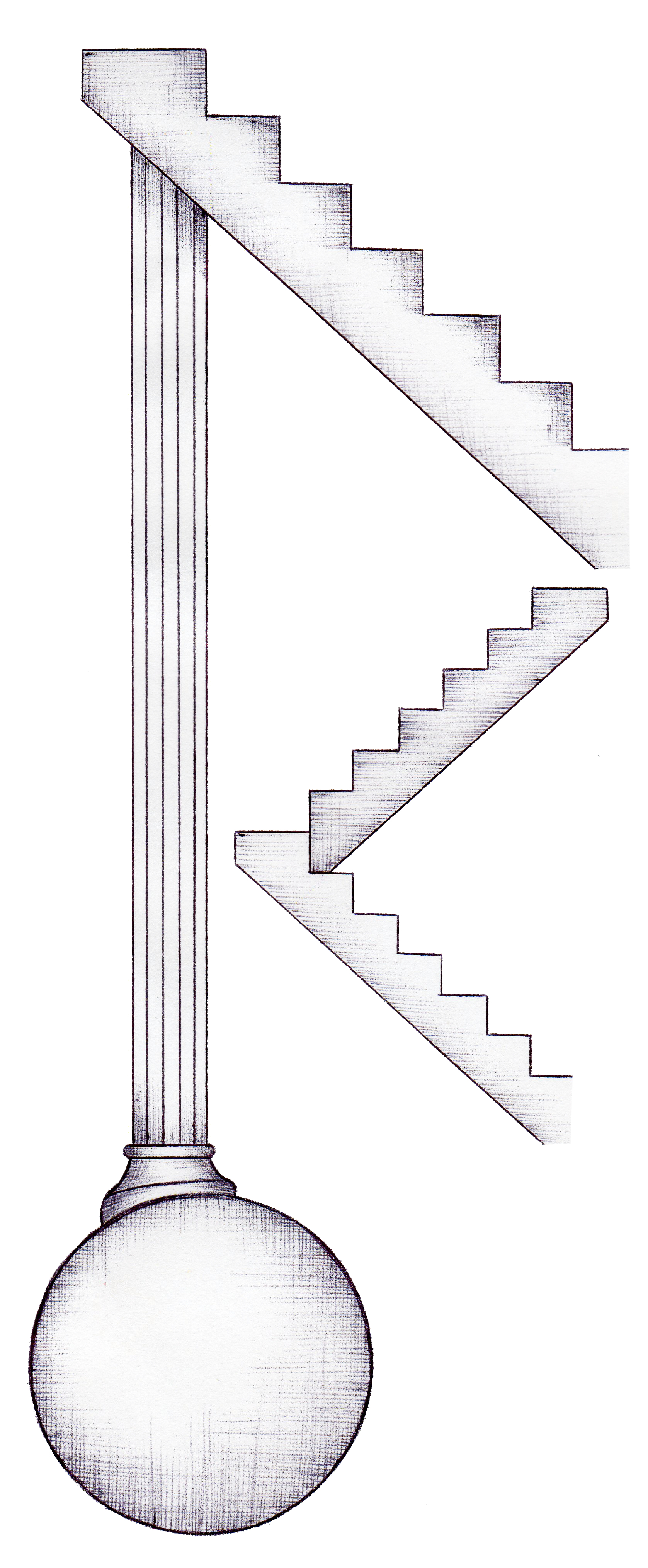 柱球体階段(HPパーツ) Pillar , sphere , stairs(HP parts)