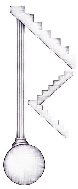 柱球体階段(HPパーツ) Pillar , sphere , stairs(HP parts)